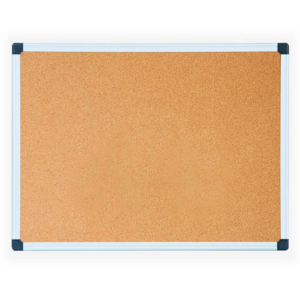Pizarra de Corcho medida 75×100 marco metalico